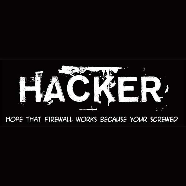 Camisetas frikis - Hacker, your screwed